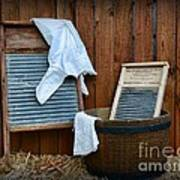 Vintage Washboard Laundry Day Art Print