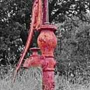 Vintage Water Pump Art Print