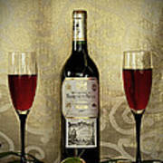 Vintage Wine Lovers Art Print by Inspired Nature Photography Fine Art Photography