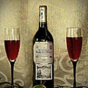 Vintage Wine Lovers Art Print