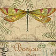 Vintage Wings-paris-e Art Print