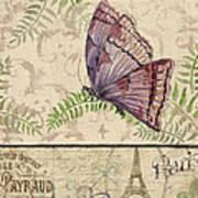 Vintage Wings-paris-i Art Print