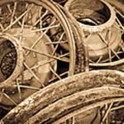 Vintage Wire Wheels Art Print