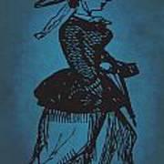 Vintage Women Color Art 1 Art Print