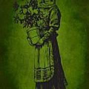 Vintage Women Color Art 13 Art Print