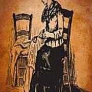 Vintage Women Color Art 14 Art Print