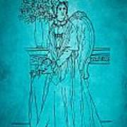 Vintage Women Color Art 22 Art Print