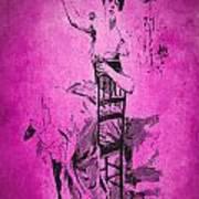 Vintage Women Color Art 55 Art Print