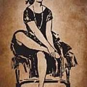 Vintage Women Color Art 63 Art Print
