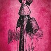 Vintage Women Color Art 72 Art Print