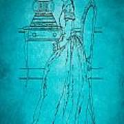 Vintage Women Color Art 84 Art Print