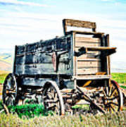 Vintaged Covered Wagon Art Print