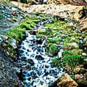 Vintaged Mount Hood Postcard Art Print