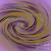 Violet And Yellow In Motion Art Print