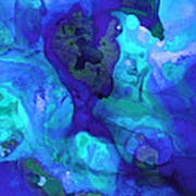 Violet Blue - Abstract Art By Sharon Cummings Art Print