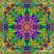 Violet Cosmos Mandala Art Print