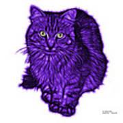 Violet Feral Cat - 9905 Fs Art Print