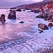 Violet Tides - Rocky Coast From Soberanes Point In Garrapata State  Art Print