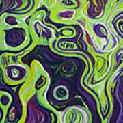 Violeta E Verde Art Print