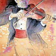 Violin Man Art Print