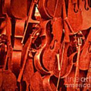 Violin Sculpture  Art Print