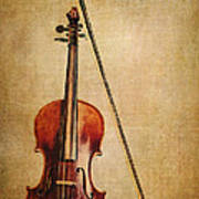 Violin With Bow Art Print