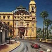 Virage De Massenet - 1959 Grand Prix De Monaco Art Print
