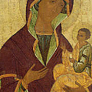 Virgin And Child Art Print by Russian School