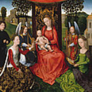 Virgin And Child With Saints Catherine Of Alexandria And Barbara Art Print