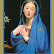 Virgin Of The Adoption Poster Art Print