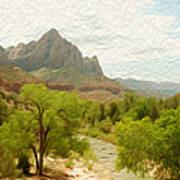 Virgin River Through Zion National Park 2 Art Print