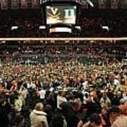 Virginia Fans Storm Court At John Paul Jones Arena Art Print