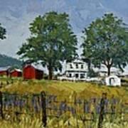 Virginia Highlands Farm Art Print