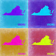 Virginia Pop Art Map 2 Art Print
