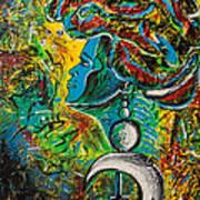 Visage Bleu Art Print