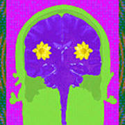 Vision Flowers In The Brain Art Print