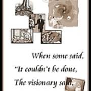Visionary Says Art Print