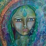 Visioning Woman Of Living Waters Art Print