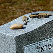 Visitation Stones On Jewish Grave Art Print