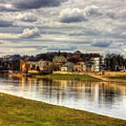 Vistula River In Cracow Art Print