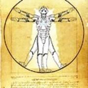 Vitruvian Cyberman Art Print