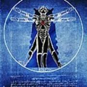 Vitruvian Cyberman In Deep Space  Art Print