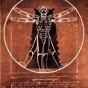 Vitruvian Cyberman On Mars Art Print