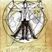 Vitruvian Dr Who Art Print