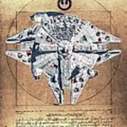 Vitruvian Falcon Millenium Art Print