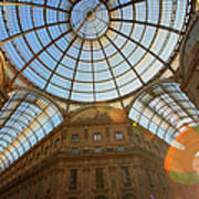 Vittorio Emanuele II Gallery In Milan Art Print