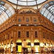 Vittorio Emanuele II Gallery Milan Italy Art Print