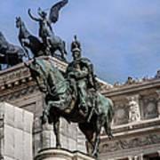 Vittorio Emanuele II Monument In Rome Art Print