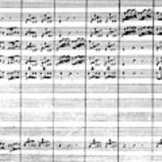 Vivaldi Manuscript Art Print