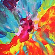 Vivid Multicolored Abstract Art On Art Print